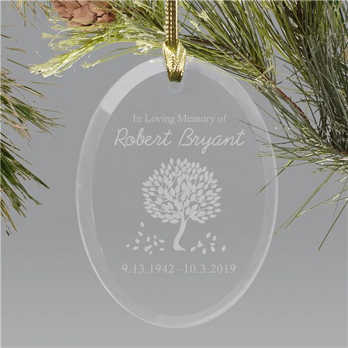 In Loving Memory Glass Personalized Ornament