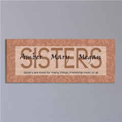 Sisters Are Loved... Wall Canvas