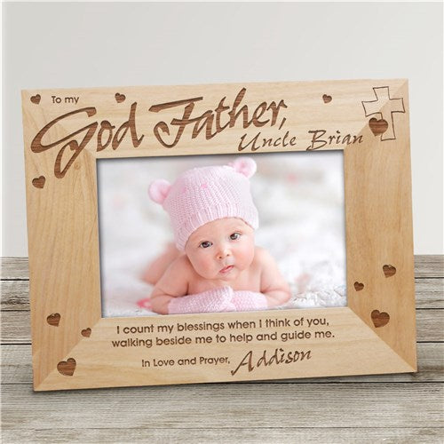 Godfather Personalized Wood Frame