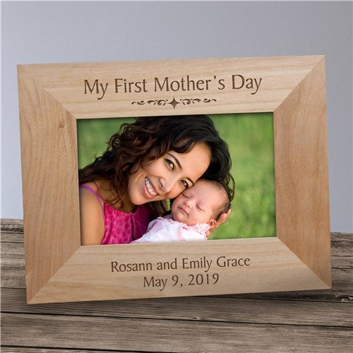 Personalized My First Mother's Day Wood Frame