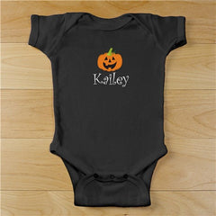 Embroidered Pumpkin Black Creeper