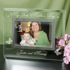 Engraved My First Mother's Day Glass Frame