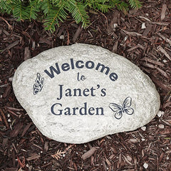 Personalized Butterfly Garden Stone