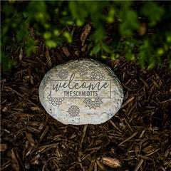 Engraved Welcome Garden Stone