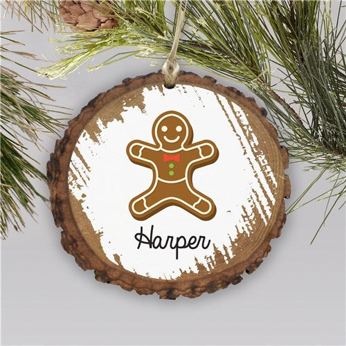 Personalized Gingerbread Christmas Cookies Ornament