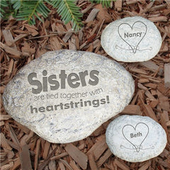 Engraved Sisters Garden Stone