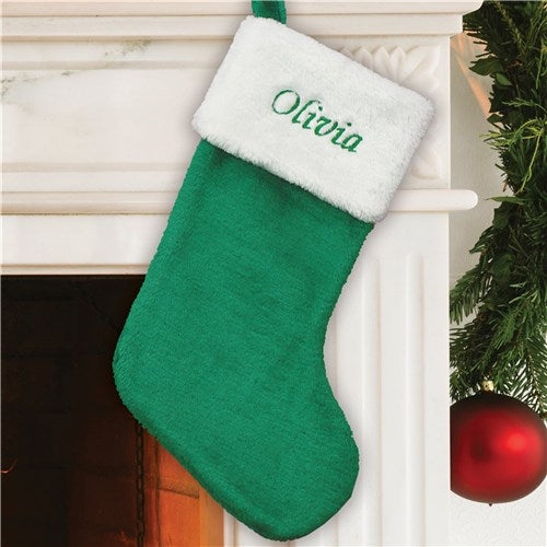 Festive Green Stocking