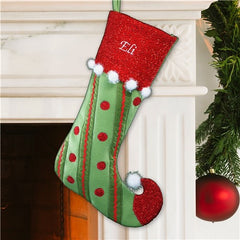 Whimsical Jester Christmas Stocking