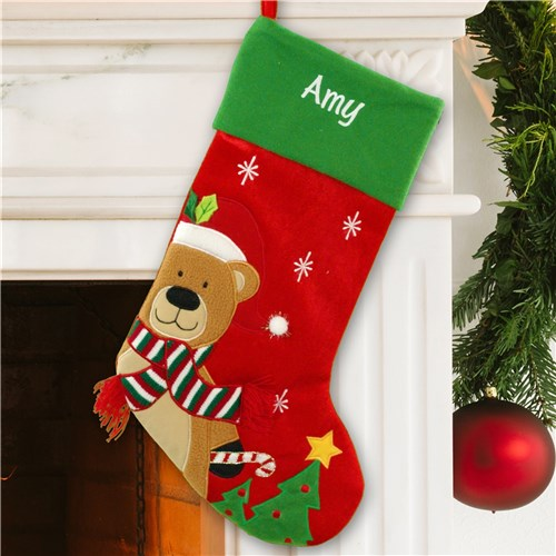 Winter Bear Christmas Stocking