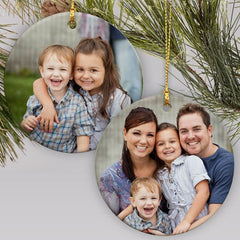 Personalized Double Sided Photo Ornament