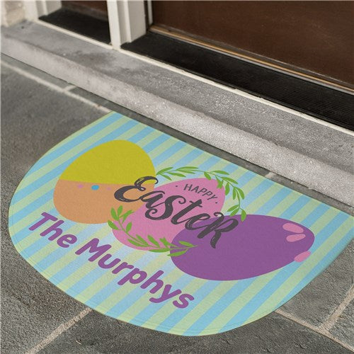 Personalized Easter Eggs Doormat