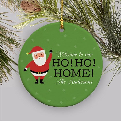 Personalized Ho Ho Home Ceramic Ornament