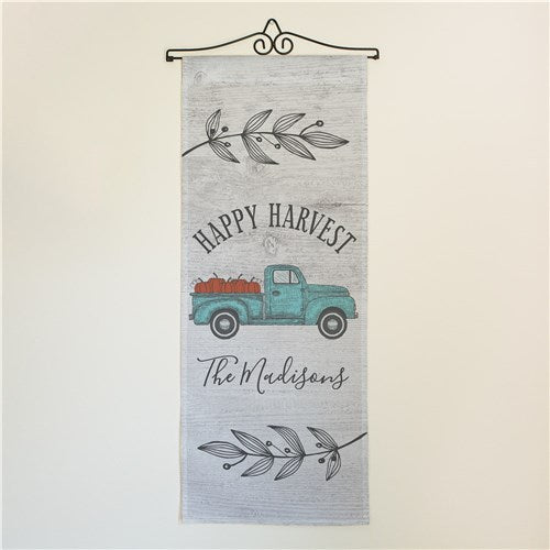 Personalized Happy Harvest Truck Wall Hanging