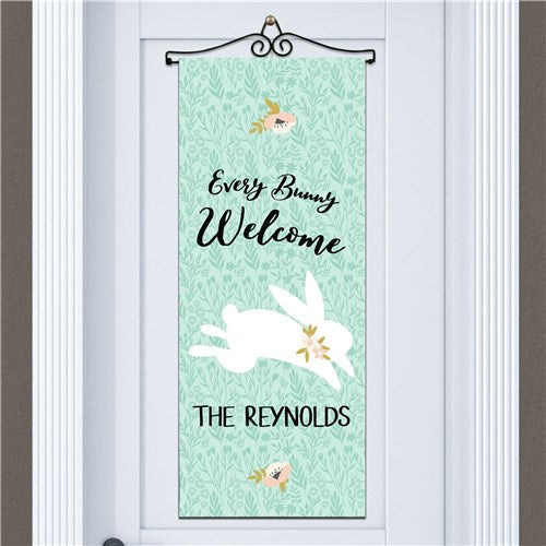 Personalized Every Bunny Welcome Wall Hanging