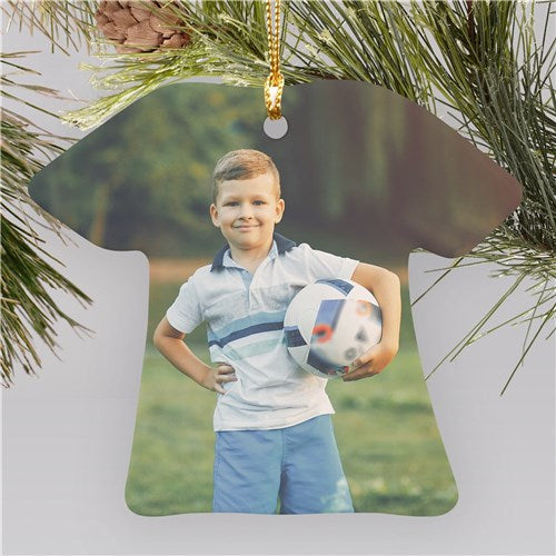 Photo Ceramic T-Shirt Ornament