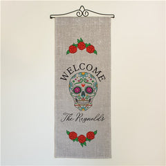 Personalized Sugar Skull Wall Flag