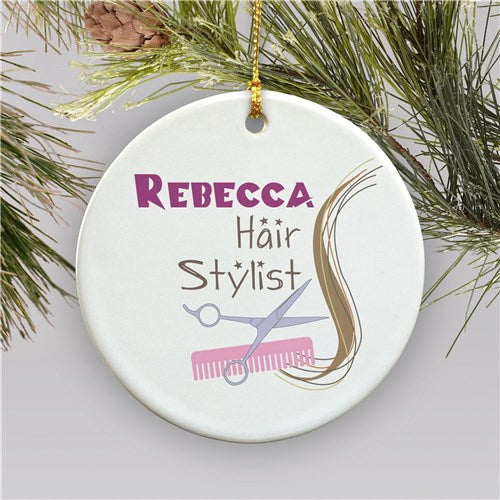 Hair Stylist Personalized Christmas Ornament