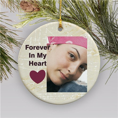 Memorial Photo Holiday Ornament