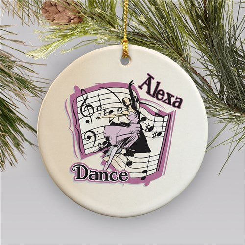 Personalized Ceramic Dance Christmas Ornament
