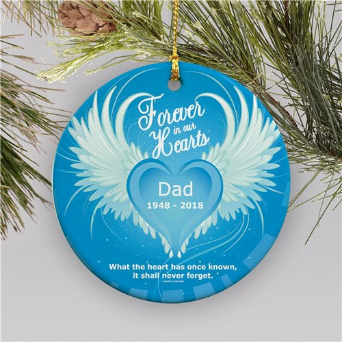 In Our Hearts Ceramic Memorial Ornament