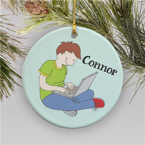 Personalized Laptop Christmas Ornament