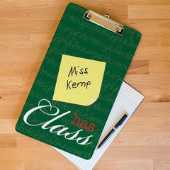 Personalized Teacher Clipboard - Letter Size