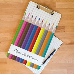 Personalized Pencil Design Teacher Clipboard