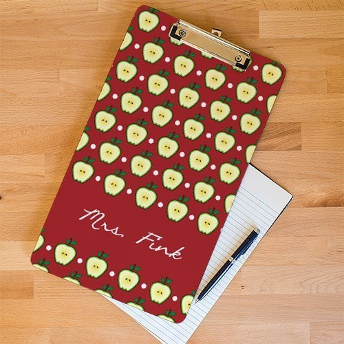 Personalized Teacher's Apple Clipboard