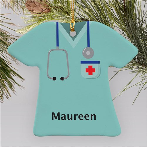 Ceramic Nurse T-Shirt Ornament
