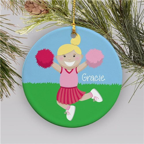 Personalized Cheerleader Christmas Ornament