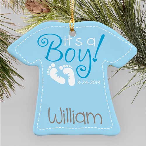 New Baby Boy T-Shirt Ornament
