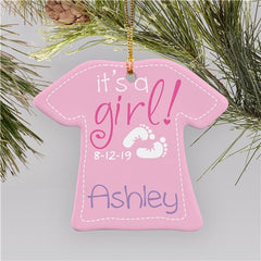 New Baby Girl T-Shirt Ornament
