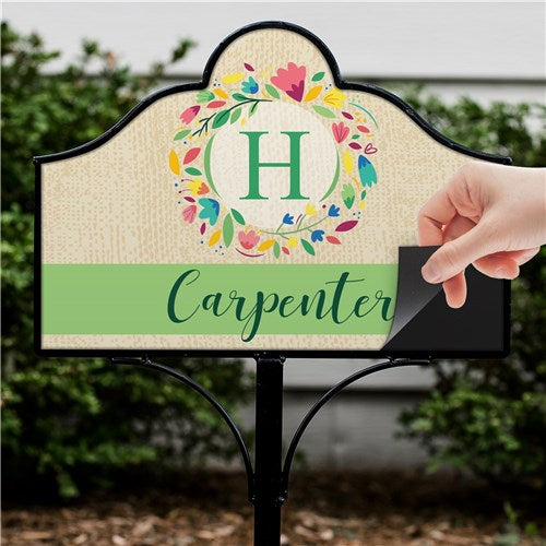 Personalized Colorful Wreath Magnetic Sign