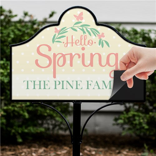 Personalized Hello Spring Magnetic Sign