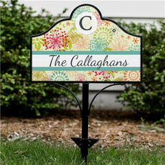 Personalized Modern Spring Magnetic Sign