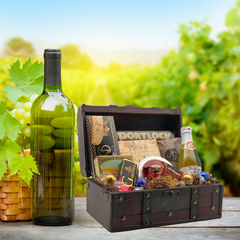 Wine Lovers' Jr. Wooden Gift Basket