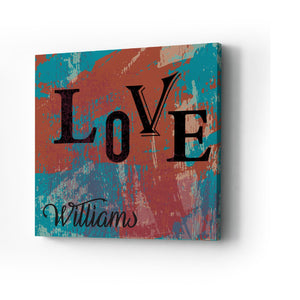 Love Graffiti Style Personalized  Canvas Print
