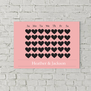 7 Days of Love Personalized Canvas Print