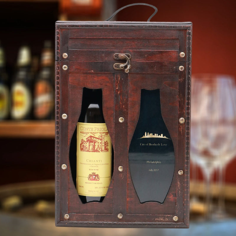 Vintage Wine Bottle Holder Gift Set