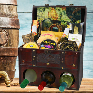 Wine Lovers' Wooden Deluxe Gift Basket