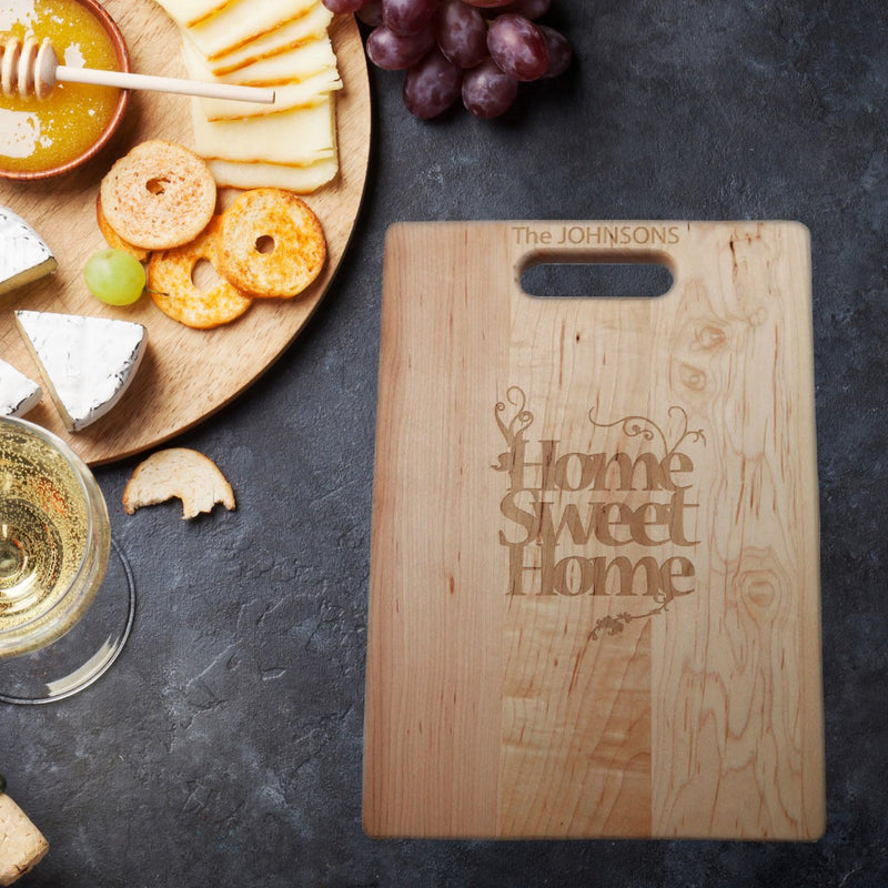 Home Sweet Home Personalized Cutting Board