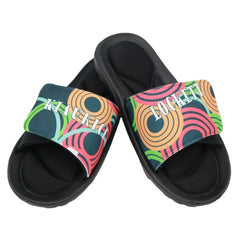 Circle Graphic Pattern Slide Sandal