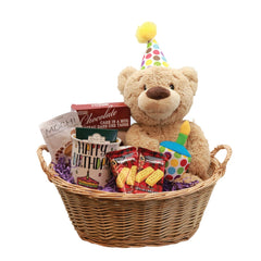 Happy Birthday Bear Gift Basket