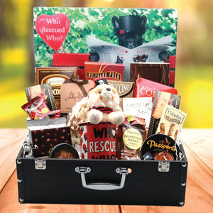 Who Rescued Who Dog Lovers Gift Basket