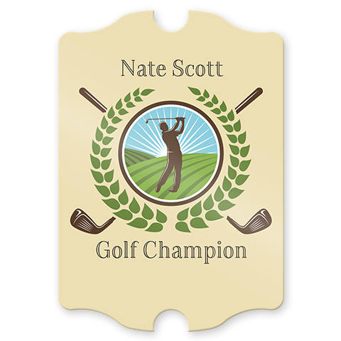 Personalized Golf Champion Pub Sign
