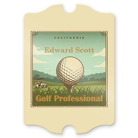 Golf Professional Personalized Pub Sign