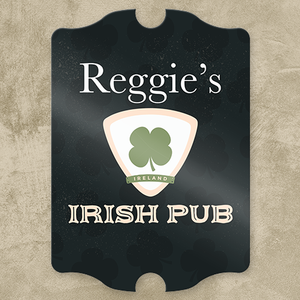 Irish Pub Escutcheon Personalized Pub Sign