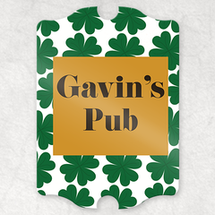 Lucky Clover Personalized Pub Sign
