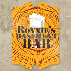 Personalized Basement Bar Pub Sign