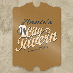 City Tavern Personalized Pub Sign